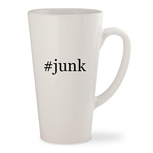 #junk - White Hashtag 17oz Ceramic Latte Mug Cup (T-shirt Rock Rare)