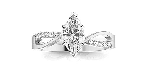 082-Carat-14K-White-Gold-Elegant-Twisting-Split-Shank-Marquise-Cut-Diamond-Engagement-Ring-H-Color-SI1-Clarity