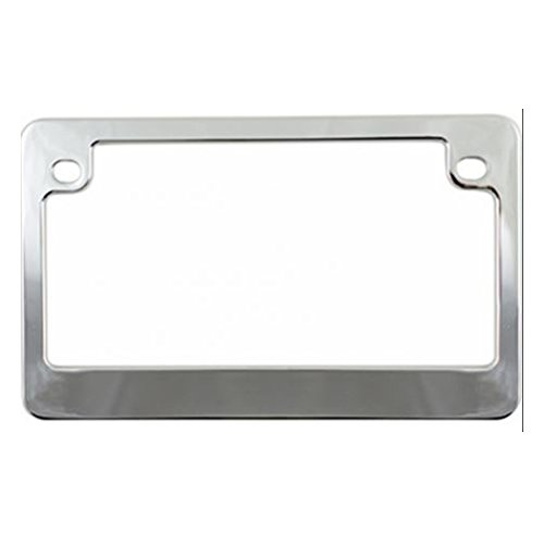 Custom Frames 92775 Chrome Dealer Frame Motorcycle License Plate Frame ()