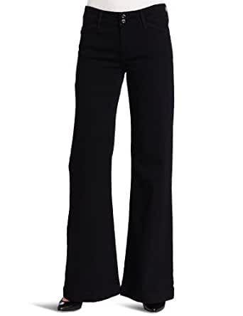 Levi's Women's Double Button Wide Leg Jean, Dark Night, 4 Medium