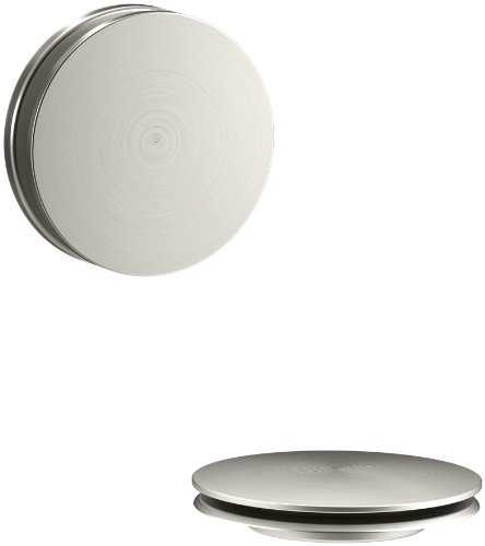 KOHLER K-T37395-BN PureFlo Cable Bath Drain Trim with Contemporary Push Button Handle, Vibrant Brushed Nickel by Kohler