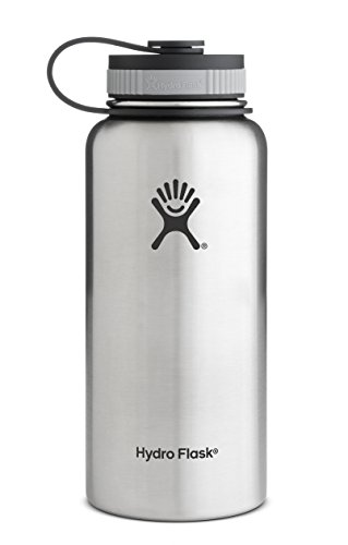 Hydro Flask Insulated Stainless Steel Water Bottle, Wide Mouth, 40-Ounce, Stainless