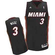 Youth Size Dwyane Wade Miami Heat #3 Jersey Black Swingman Revolution 30 Sewn Letters & Numbers (Youth XL Size 18-20)