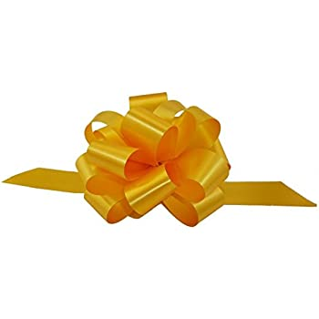 "Gold Decorative Gift Pull Bows - 5"" Wide, Set of 10"