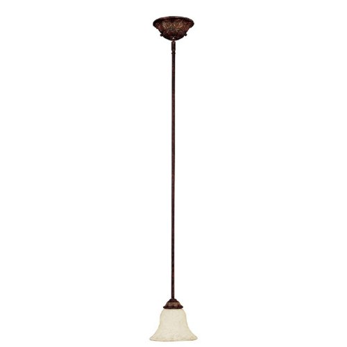 Capital Lighting 3841CB-285 Mini Pendant with Rust Scavo Glass Shades, Chesterfield Brown Finish (Bronze Chesterfield Finish)