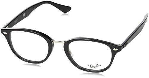 Ray Charles Glasses (Ray-Ban Unisex 0RX5355 Shiny Black One)