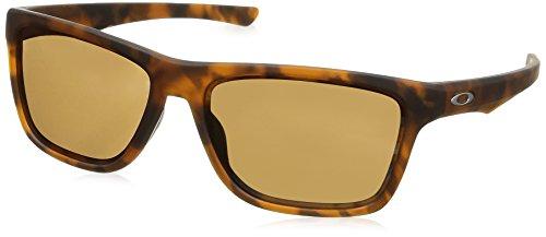 Oakley Tortoise Lens - Oakley Men's OO9334 Holston Rectangular Sunglasses, Matte Brown Tortoise/Prizm Tungsten, 58 mm