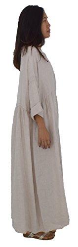 Kleid Lagenlook Mallorca Damen Arm Beige 4 de Bohemian LA500 3 Mein Design XwUqxS