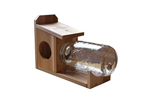 Squirrel Glass Jar Feeder - Garden Artworks Squirrel Jar Feeder with Screw on Jar