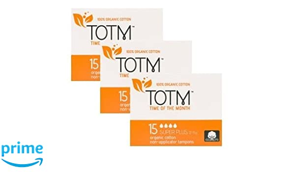 Tres paquetes de 15 algodón orgánico non-applicator tampones ...