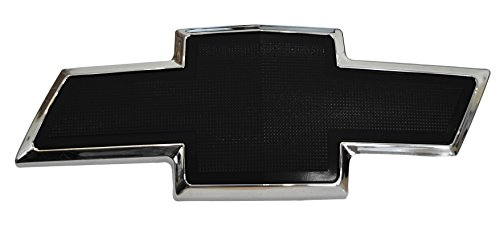 Flat Black Textured Bowtie Emblem Fitted for Chevrolet Avalanche 2007-2013, Suburban 1500 2007-2014, Suburban 2500 2007-2013, Tahoe 2007-2017 Front Grill ()