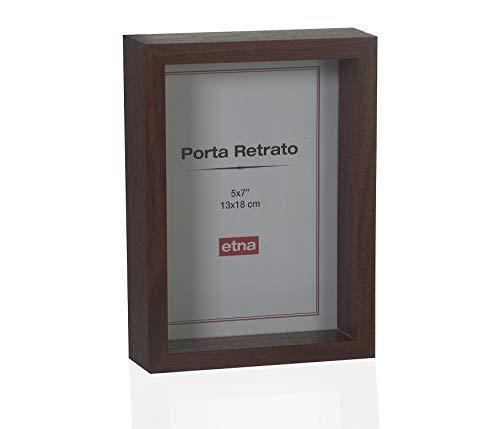 Porta Retrato Madeira Etna Marrom
