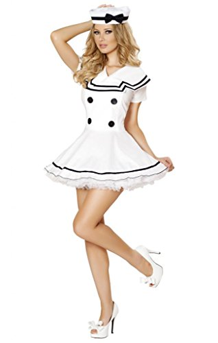 Pin Up Girl Fancy Dress (Sexy Vintage Sailor Girl Flair Dress Halloween Costume)