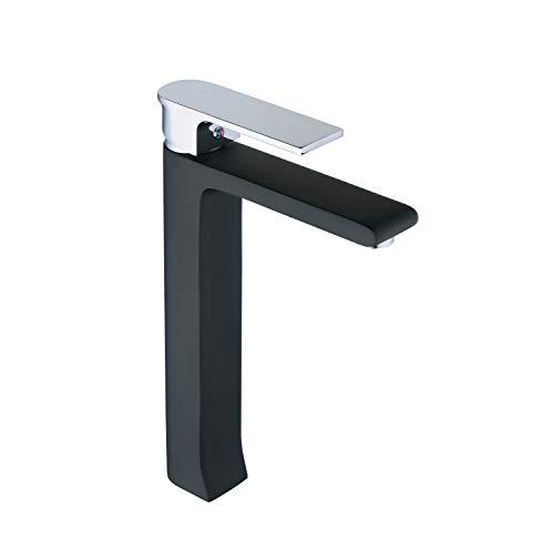 - Leekayer Bathroom Vessel Sink Faucet Chrome Single Handle Black Painting One Hole Deck Mount Lavatory Mixer Tap Brass