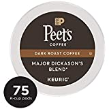 Peet's Coffee K-Cups, Dark Roast Major Dickason's Blend, 75 Count Pods Single Cup Coffee Pods, Complex Dark Roast Coffee Blend, with A Full Bodied and Layered Flavor, for Keurig K-Cup Brewers