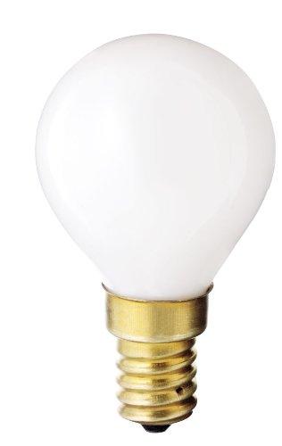 Satco S3398 130V E14 Euro Base 40-Watt G14 Light Bulb, Gloss White ()