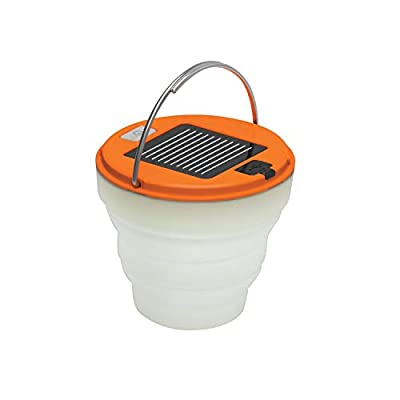 UST Spright Solar USB LED Collapsible Water Resistant Lantern with 120 Lumens, Rechargeable USB or Solar Panel and Hook for Camping, Hiking, Emergency and Outdoor Survival