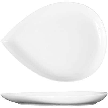 Fortessa Fortaluxe Vitrified China Dinnerware Petals Wide Well Plate 12 25 Inch Set Of 6