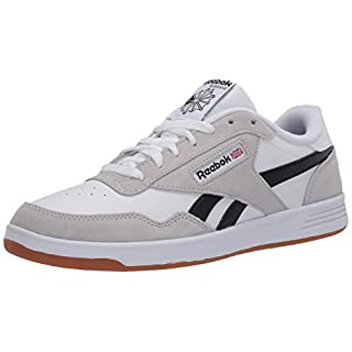 Reebok Men's Club MEMT Sneaker, White/Steel/Black, 6.5