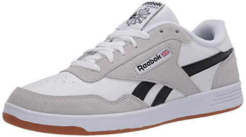 Reebok Men's Club MEMT Sneaker, White/Steel/Black, 13