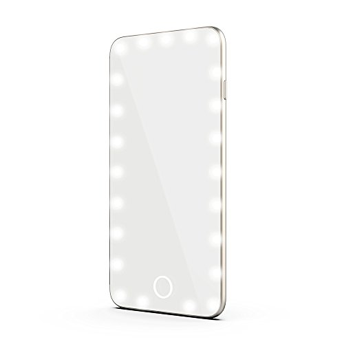 Bonjanvye LED Lighted Makeup Mirror with 23 Pcs Lights Portable Travel Illuminated Cosmetic Mirror for Girls and Women - Cara Delevingne Glasses