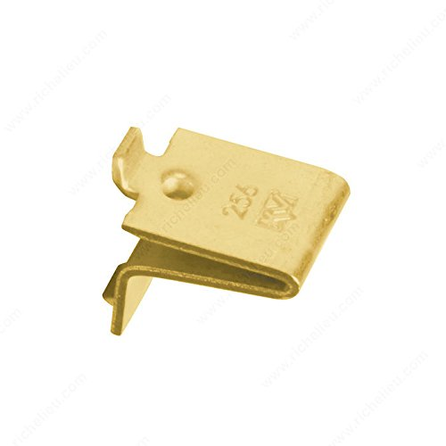 Knape & Vogt KV Shelf Support Clip Brass, Pack of (Shelving Clips)