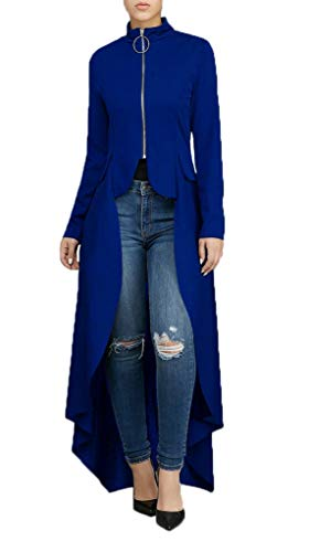 ddc88ad4238c7 LKOUS Women s Long Sleeve High Low Asymmetrical Sweatshirt Tops Blouse Shirt  Dress Cocktail Plus Size Blue