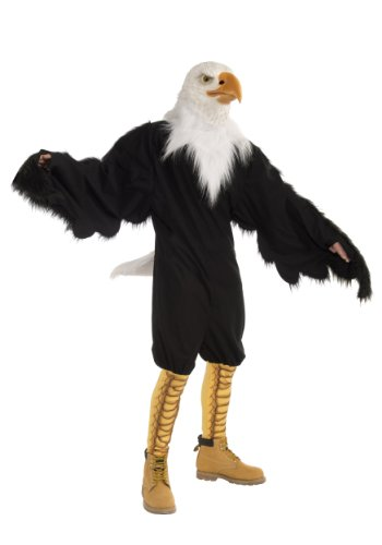Forum Novelties Men's American Eagle Plush Mascot Costume and Latex Mask, Multi Colored, One Size (Mascot Costumes)