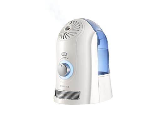 HoMedics Cool Mist Ultrasonic Humidifier - 1 Gallon, Runs up to 45 hours, On/Off Night Light, Auto shut-off, Demineralization Cartridge Included, UHE-CM45B