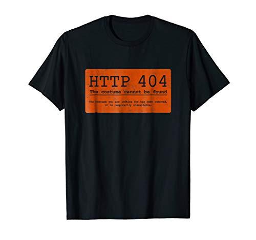 Error HTTP 404 Funny Simple Halloween Costume Shirt, Orange ()