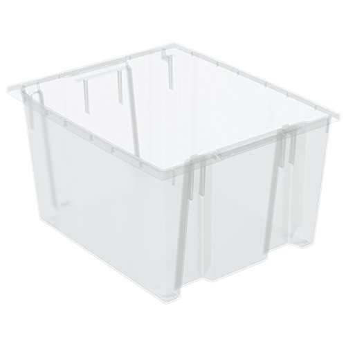 Akro-Mils 35230SCLAR Nest and Stack Plastic Storage and Distribution Tote (Case of 3), Clear, 23.5'' L x 19.5'' W x 13'' H by Akro-Mils