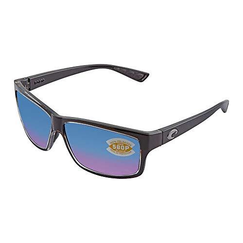 Costa del Mar Cut Polarized Rectangular Sunglasses, Squall/Blue Mirror 580 Plastic ()