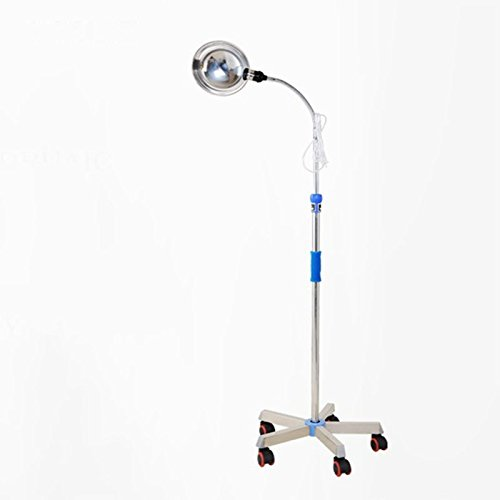 Examination Lamp - Tdou Clinic Medical Stainless Steel Reflector/Adjustable Height Exam Lamp/Surgical Llight/Check Light Special Lights for Gynecological Examination Bed Floor-Standing Lighting