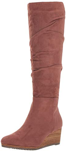 Dr. Scholl's Shoes Women's Central Knee High Boot, Copper Brown Microfiber, 7.5 M US