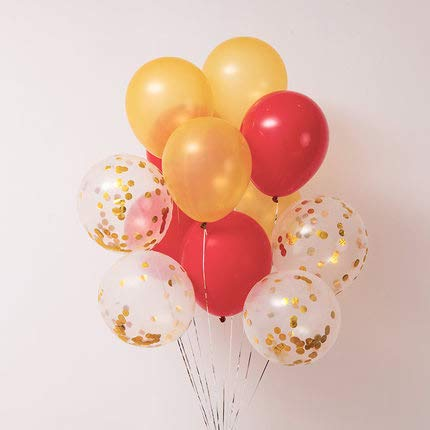 Red and Gold Balloons 40 pcs 12 Inch