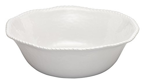 (Merritt White Nautical Rope 14-inch Melamine Bowl)