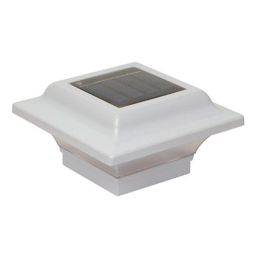 Classy Caps SL082W 2.5x2.5 Imperial Solar Post Cap - 2 Pack/White