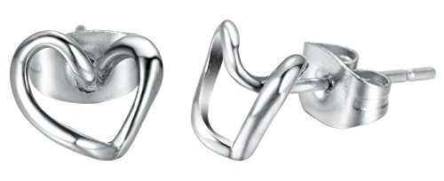 Heart Friction Stainless Steel Earrings