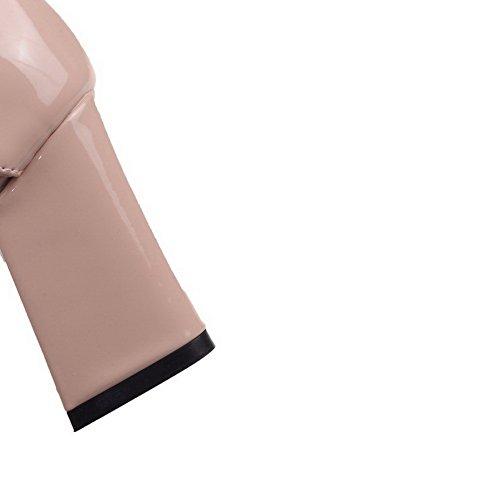 Farbe Lackleder VogueZone009 Zehe Rein Schnalle Damen Pumps Hoher Nackte Schuhe Spitz Absatz qq5gwP