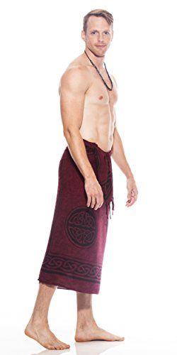 Hommes Sarong Bourgogne Unicorn Celtic In 1 World Sarongs TwE88v