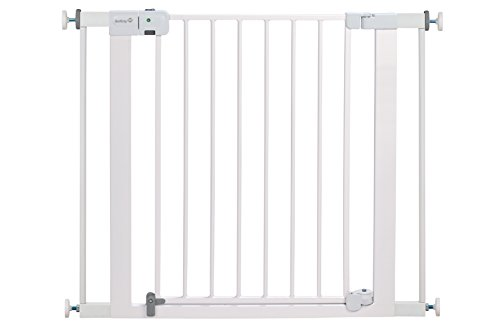 Safety 1St Easy Install Auto Close Walk Thru Gate  Fits Spaces Between 29  And 38