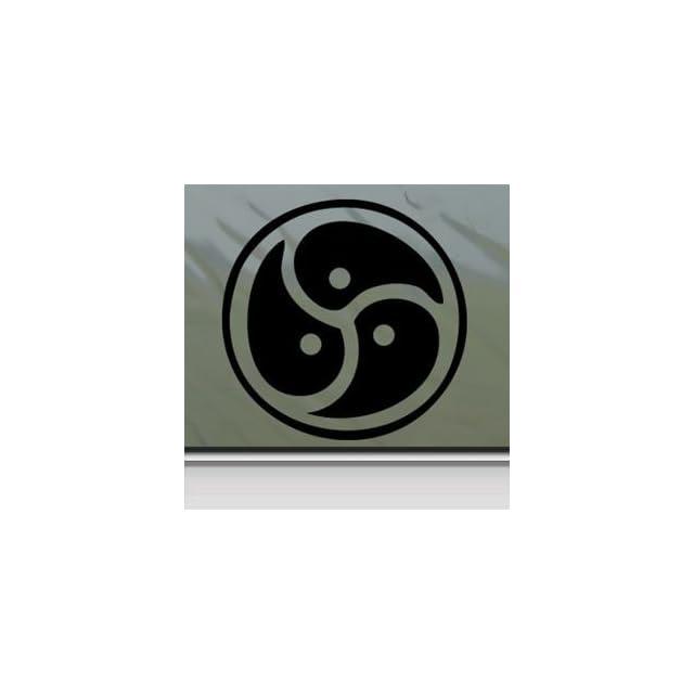 Signet Triskelion Symbol Story Of O Black Sticker Decal Car Window Wall Macbook Notebook Laptop Sticker Decal
