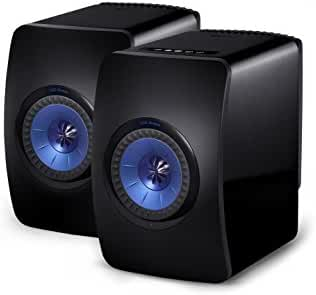 KEF LS50 Wireless Speaker - Gloss Black/Blue (Pair)