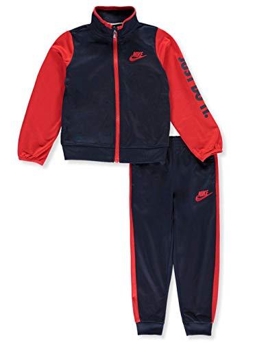 NIKE Boy's Futura Tricot Jacket and Pants Set (Obsidian (86C626-695) / University Red/Obsidian, 6)