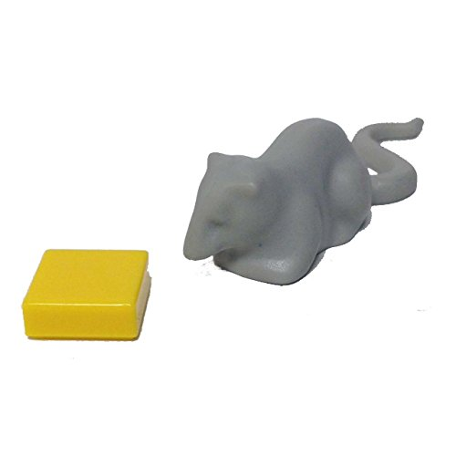 Lego Parts: Animal, Land - Rat with Cheese (Old Light (Lego Halloween Moc)