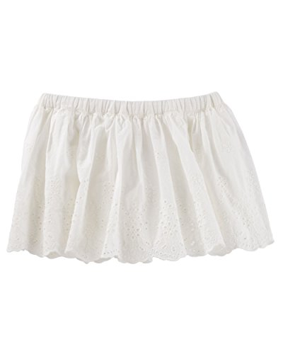 OshKosh B'gosh Little Girls' 2 Piece Eyelet Border Skirt, (Embroidered Eyelet Skirt)