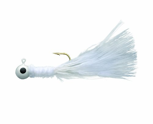 Eagle Claw Crappie Jig, 1/8-Ounce, White