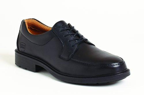 City Knights Ss502cm - botas de seguridad para hombre de cuero hombre negro - negro