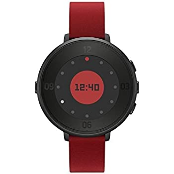 """Pebble Time Round 14"""" Smart Watch Red/Black - 601-00045 (Certified Refurbished)"""