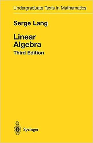 serge lang undergraduate algebra solutions
